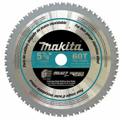 Makita 5-7/8 in. 60-Tooth Stainless Steel Carbide-Tipped Saw Blade A-96110 New