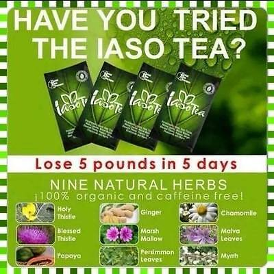 TLC IASO Detox & Weight Loss Tea *OVER MONTH *6 FOR PRICE OF 4* IN STOCK TO POST