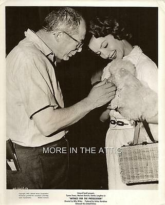 Agatha Christie Billy Wilder Witness For The Prosecution Orig Bts Candid Still 2