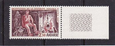 Andorra French #177 Mnh Social Security System (Injured Man At Home)