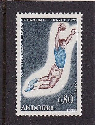 ANDORRA FRENCH #195 MNH SPORTS: 7th INTL. FIELD BALL GAMES