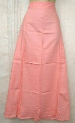 Light Peach Pure Cotton Frill Petticoat Skirt Full Length Variety Chic NR #OGSZR