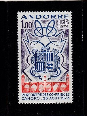 Andorra French #234 Mnh Arms Of Andorra (Meeting Of Co-Princes)