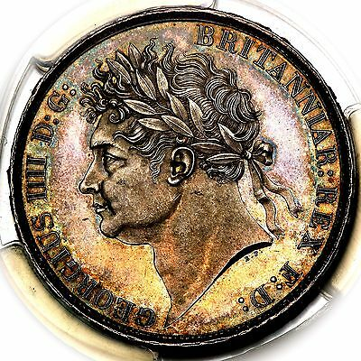 1821 King George IV IIII Great Britain London Mint Silver Crown Coin PCGS MS64