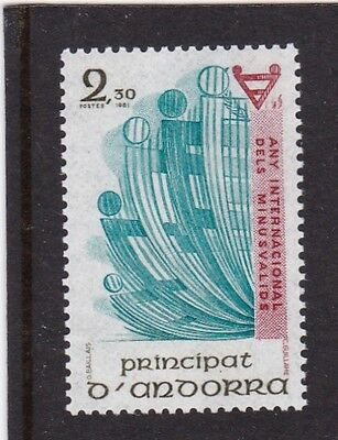 Andorra French #293 Mnh International Year Of The Disabled
