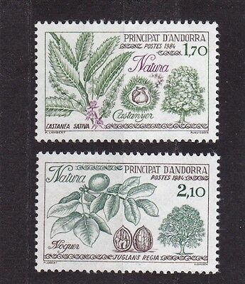 Andorra French #325-326 Mnh Nature Protection ( Chestnut & Walnut Trees)