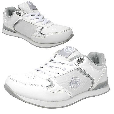 """Dek Womens """"Kitty"""" Bowling Shoes White Lawn Bowls Trainers Lace Up"""