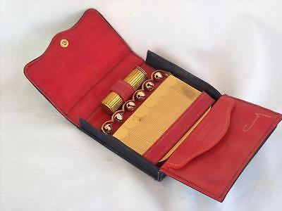 Vintage Coty Sleigh / Jingle Bells Vanity Powder Compact With Lipstick & Case
