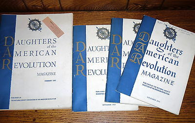 4 Daughters of the American Revolution Magazines 1955 1957 1961
