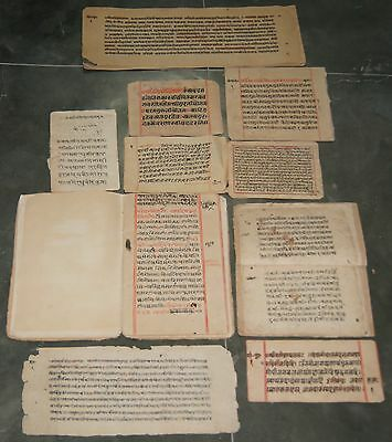 India Old Manuscript, 92 Leaves-184 Pages, Complete Book