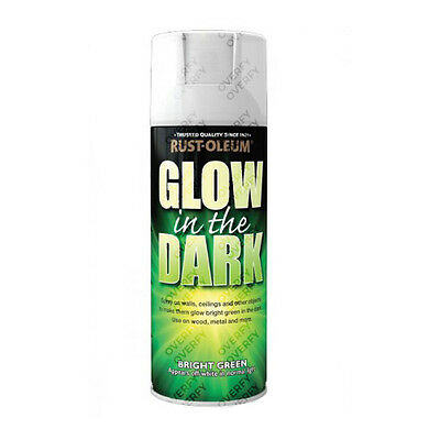 x1 Rust-Oleum Glow In The Dark Luminous Bright Green Aerosol Spray Paint 400ml