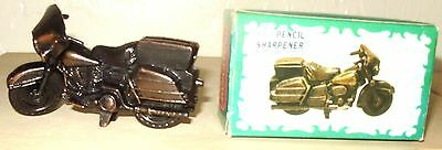 Motorcycle, Bronze Colored, Die Cast Pencil Sharpener, w/box