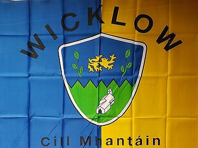 County Wicklow Crested Gaelic Gaa/hurling Flag  5Ft By 3Ft New