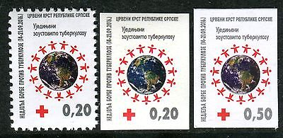BOSNIA SERBIA(368) - Red Cross - Tuberculosis - TBC - MNH Set - 2016