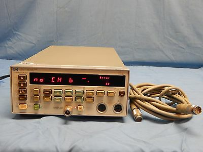 Hp Agilent 438A Dual Channel Power Meter W/ Option 002 And 1 Sensor Cable TESTED