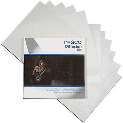 "Rosco Diffusion Filter Kit, 12 x 12"" Sheets #110120120001"