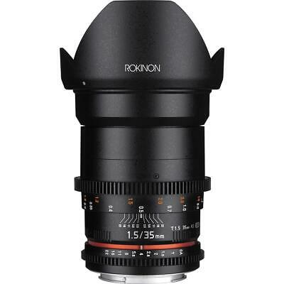 Rokinon 35mm T1.5 Cine DS Wide-Angle Lens for Canon EF Mount #DS35M-C
