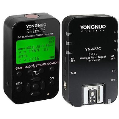 Yongnuo YN-622C-TX Wireless E-TTL Flash Trigger Kit with LED for Canon Cameras