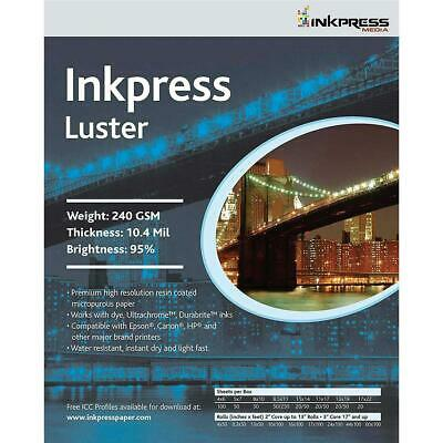 """Inkpress Luster Premium Photo Paper (11x14""""), 50 Sheets #PCL111450"""