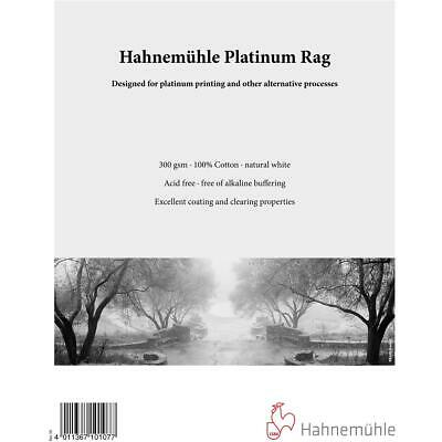 "Hahnemuhle Platinum Rag Fine Art Paper, 300gsm, 8x10"", 25 Sheets #10647103"