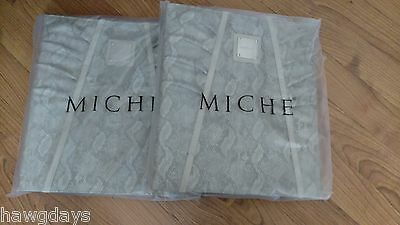 New In Bag 2 Miche Snake Binders 3 ring Faux Leather Snake Skin Print Free Ship!