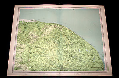 Antique CROMER AND THE BROADS Survey Map Plate 32 by Bartholomew 1903