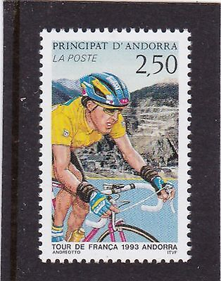 Andorra French #429 Mnh Tour De France Bicycle Race