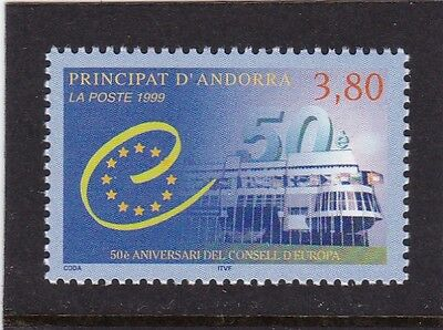 ANDORRA FRENCH #507 MNH 50th ANNIV. COUNCIL OF EUROPE