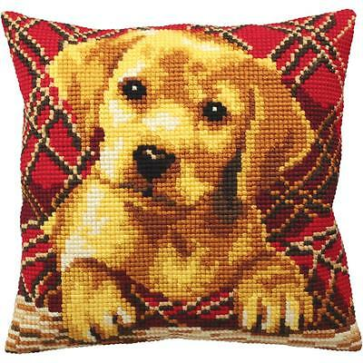 Collection D'Art - DACHSHUND PUPPY - Needlepoint Pillow Kit - Large Grid