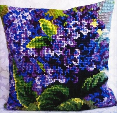 Collection D'art - LILACS - Needlepoint Pillow Kit - Large Grid - OOP
