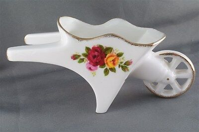 Cottage Rose Porcelain Wheelbarrow Fine Bone China