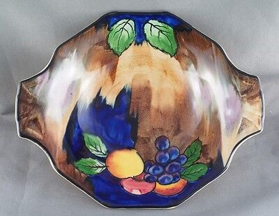 Vintage H & K Tunstall Handpainted Autumn Handled Dish Hand Painted