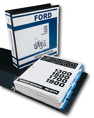 Ford 1300 1500 1700 1900 Tractor Service Repair Manual Technical Shop Book