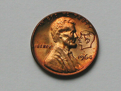 Lincoln Facing Kennedy Counterstamped 1964 Cent Novelty Coin Countermarked Penny
