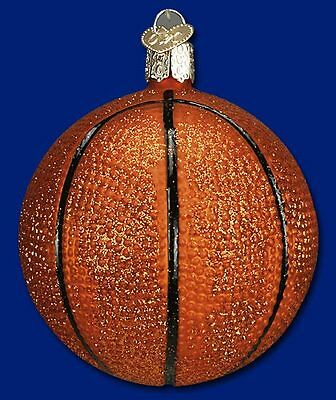 Basketball Old World Christmas Glass Ornament 44010 Tree Decoration New FREE BOX