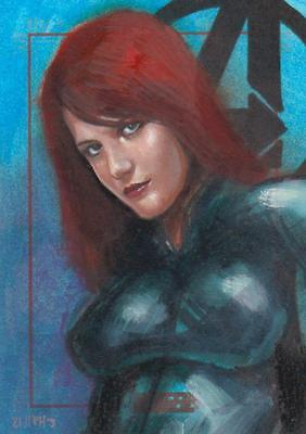 Marvel Greatest Heroes 2012 -  Color Sketch Card by Hall - #2