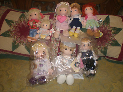 Lot Of 8 Precious Moments Dolls, Rare Vintage New Old Stock Nos Very Nice Lot #6