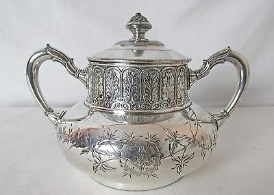 Tufts Silver Plated Master Sugar Or Tea Caddy Aesthetic Period Design