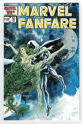 Marvel Fanfare #30 Marvel Comics Copper 1987 NM Solo Moon Knight Anderson Cvr