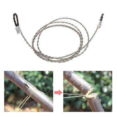 3X Emergency Survival Steel Wire Saw Camping Hiking Hunting Climbing Gear N8M5