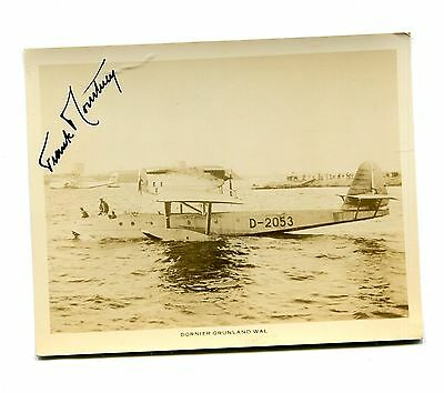 Autographed Photo early aviation pilot FRANK COURTNEY Dornier Grunland Wal