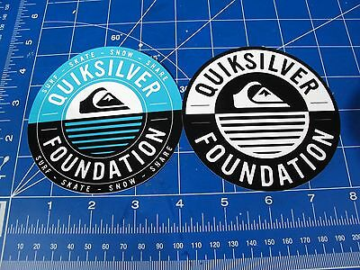 Quiksilver Foundation Surf sticker lot of 2 Fiberstone Eco-Friendly Green