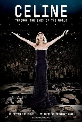 Celine Dion poster : Through The Eyes Of The World : 11 x 17 inches (2010)