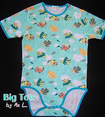 Adult Baby Teddy's in Airplanes bodysuit *Big Tots Exclusive