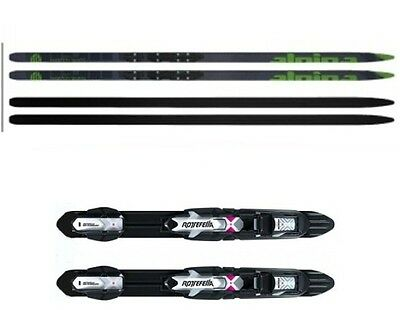 """NEW ALPINA """"AMBITION SKATE"""" SKATING XC cross country SKIS/BINDINGS PACKAGE"""