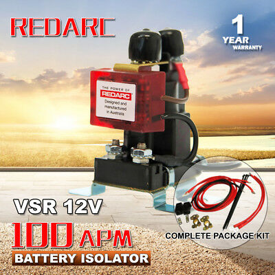 Sbi12Kit Redarc Dual Battery System Complete Package 12 Volt Isolator Battery