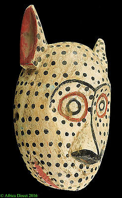 Bozo Mask White Spotted with Ears Mali African Art