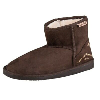 Uncle Sam Womens Winter Boots in Dark Brown
