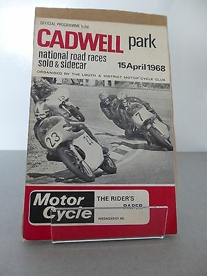 Cadwell Park International Motor Racing Cycle Road Race Programme 15 April 1968
