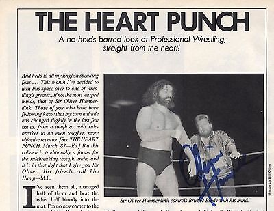 SIR OLIVER HUMPERDINK w/ BRUISER BRODY AUTOGRAPHED PICTURE PROOF AUTHENTIC WWF